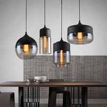 Modern LED Pendant Lights Clear Glass Lampshade Loft Pendant Lamps E27 Dinning Room Home Hanging Lamps Lighting Fixtures Avize gzmj country simple glass lampshade wood pendant lights hang lamps for home lighting dinning room aisle bar luminaire suspendu