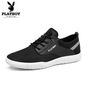 PLAYBOY New Men's Walking shoes Sneakers Summer Mesh Breathable Comfortable Men Shoes Loafers shoes Slipon Walking Big Size 44