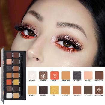 The New 14-Color Eyeshadow Is Easy To Color And Lasts Without Smudging Firming Rose Desert Eye Makeup