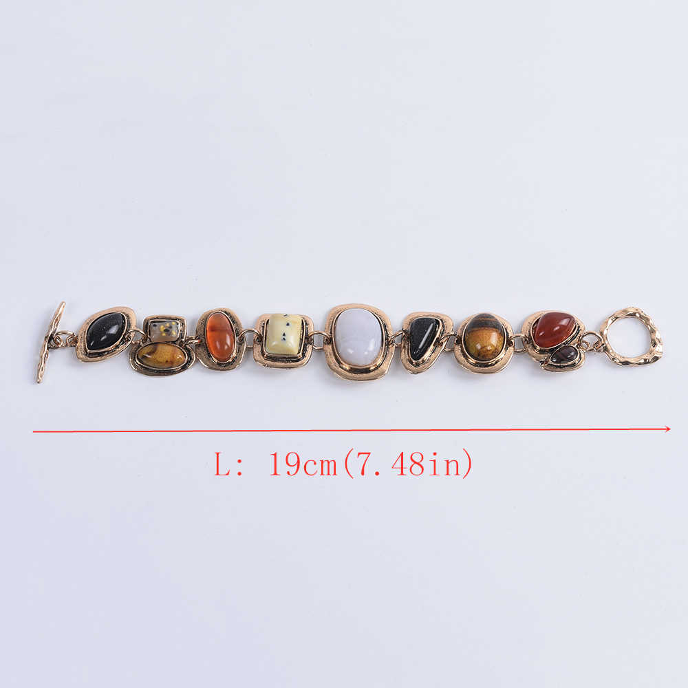 Богемные Этнические браслеты для женщин Za контрастные металлические полые каменные браслеты женские винтажные браслеты дружбы для женщин