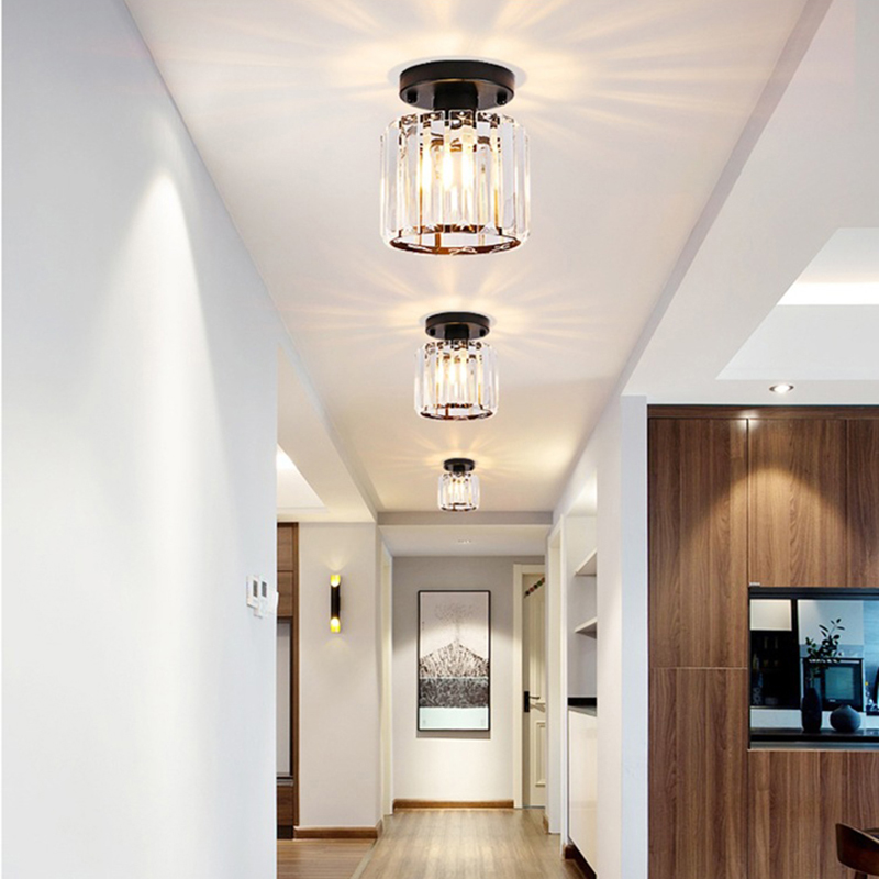 Nordic Crystal Ceiling Light For Aisle, Corridor Entrance, Balcony, Cloakroom,  Luxury Crystal Small Ceiling Lamp Hanging Lights