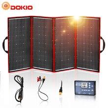 Dokio 300W 18V Flessibile Pannello Solare Pieghevole di Qualità Hiqh Portatile Pannello Solare Cina Per Il Campeggio/Barca/RV/Viaggi/Home/Auto