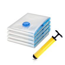 Home Space Saving Compressed Air Transparent Foldable Vacuum Bags Seal Packet Storage Organizer for Clothes Quilt and Toys