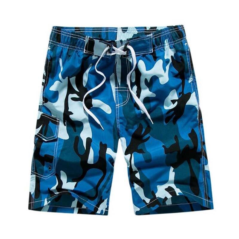 Men's Beach Shorts Quick Dry Surf Board Shorts Sport Swimwear Men  Boardshorts Man Gym Bermuda Swimsuit-Leather bag