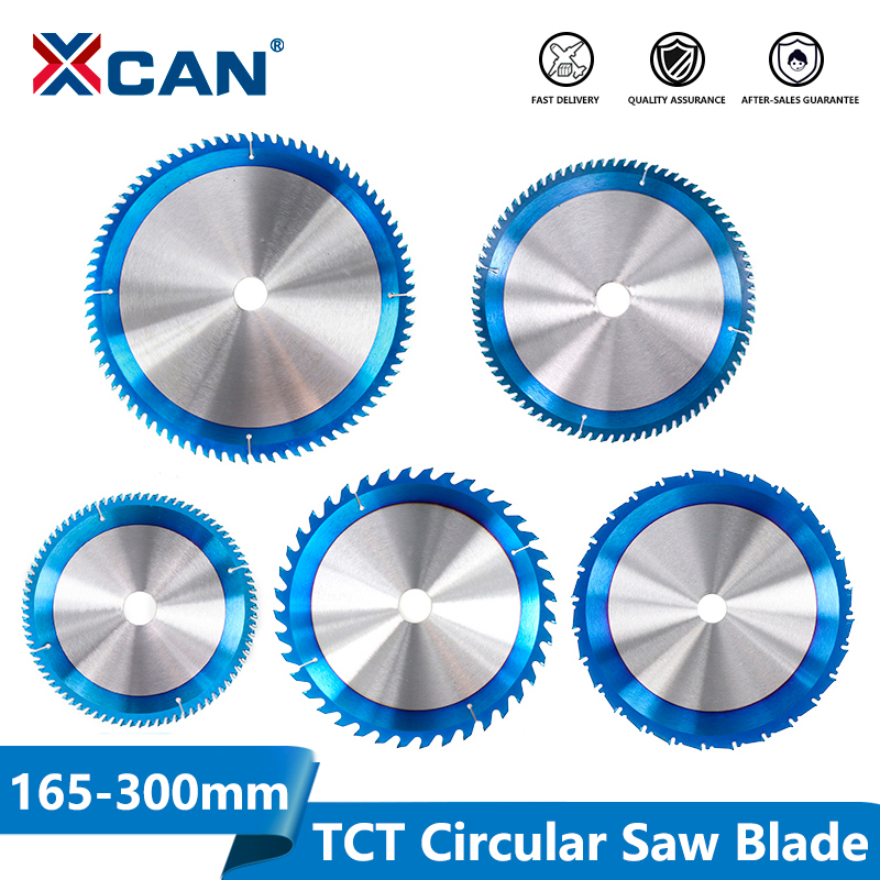 XCAN 1pc 165-300mm  TCT Saw Blade Nano Blue Coating Circular Saw Blade Woodworking Cutting Discs Carbide Tipped Saw Blade