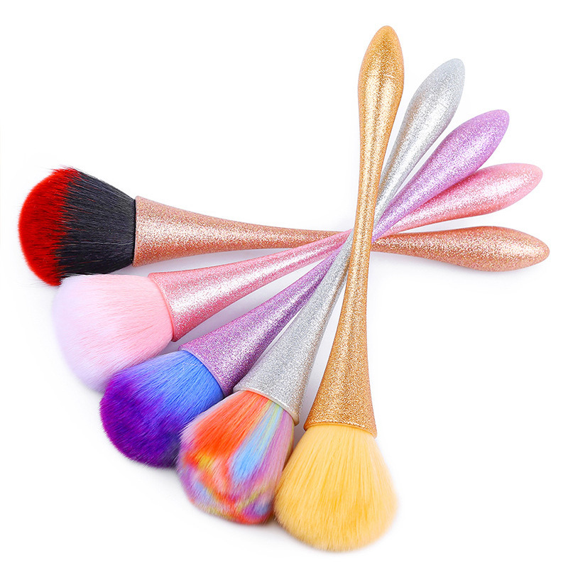 Colorful Nail Brush Cleaning Remove Dust Powder Nail Art Pedicure Soft Remover Dust Acrylic Clean Brush For Nail Care Tool