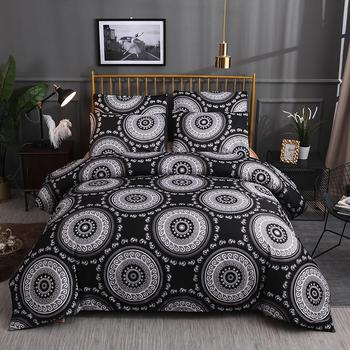 Boho Bedding Set Printed Duvet Cover King Queen Size Sets Quilt Cover Brief Bohemian style Comforter Covers 3Pcs