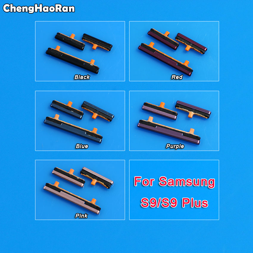 ChengHaoRan For Samsung Galaxy S9 G960 S9 Plus G965 Power Button And Volume Button Side Key Button Keys