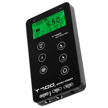 Newest T700 Touch Screen Tattoo Power Supply UPGRADE Intelligent Digital LED Dual Tattoo Power Set Supply цена 2017
