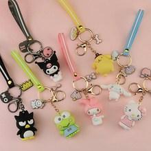 Cute Cartoon Anime Keychain Soft Silicone Handbags Bags Accessories Women's Bag Pendants Kids Purse Clasp Wallet Ornament
