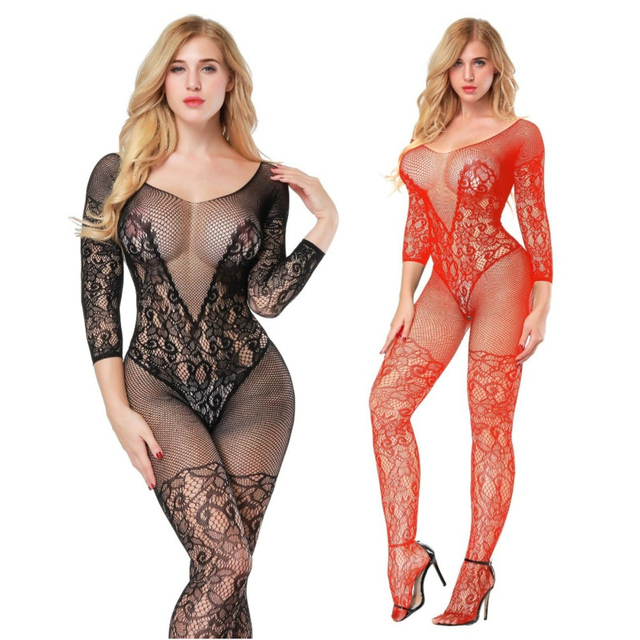 Sexy lingerie Teddies Bodysuits hot Erotic lingerie open crotch elasticity mesh body stockings hot porn sexy underwear costumes 2