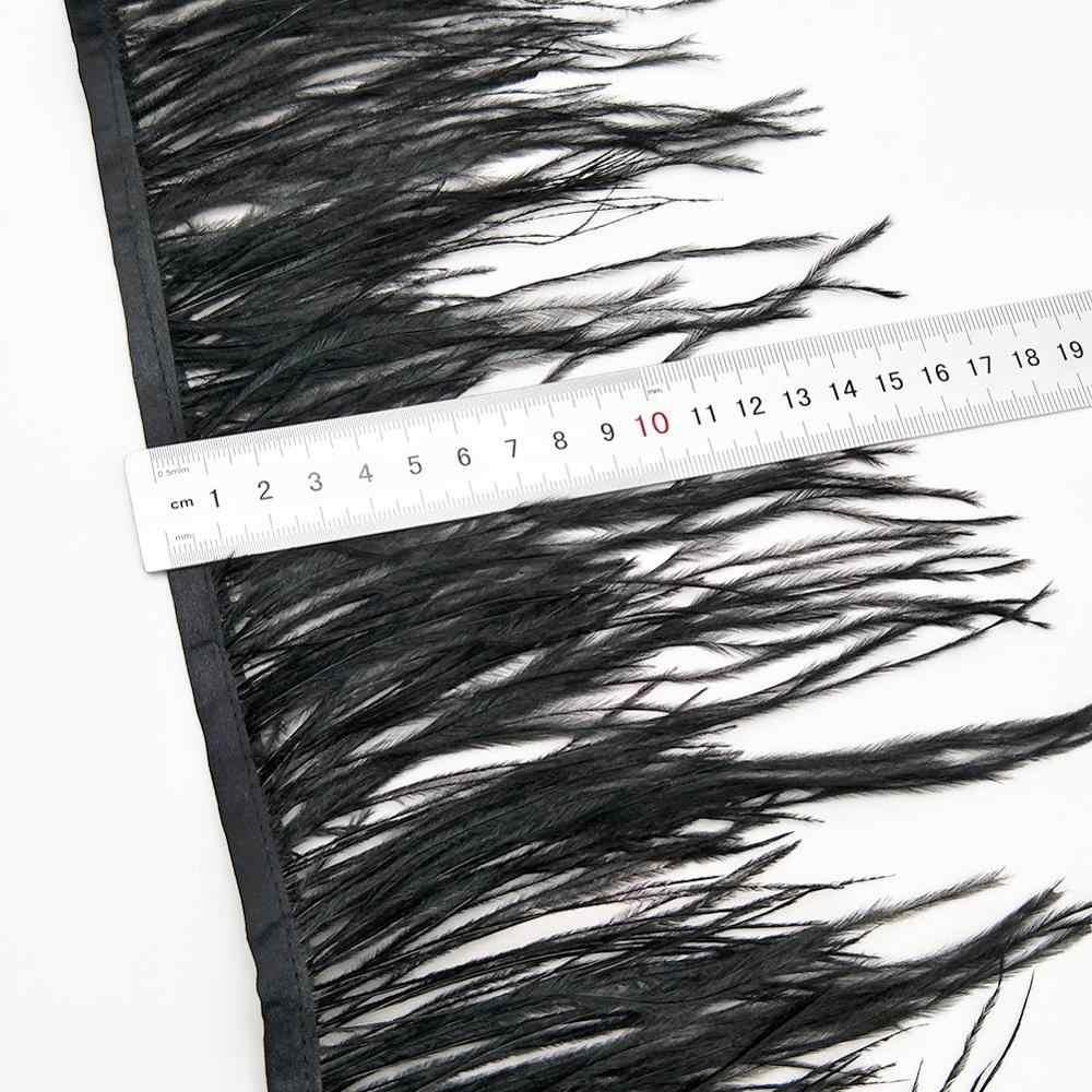 도매 10 야드 10-15cm 흰색 타조 깃털 리본 타조 깃털 트림 프린지 의류 장식 깃털 트림 diy