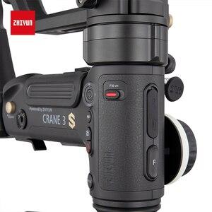 Image 5 - Estabilizador de mão para câmeras zhiyun, crane 3s 3s pro 3s e, 3 eixos, com carga máxima de 6.5kg para câmera de cinema vermelho câmeras de vídeo gimbal