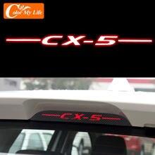 Цветной Автомобильный тормозной светильник из углеродного волокна с декоративной наклейкой на тормозной светильник для Mazda CX-5 CX5 2013-2020 аксе...