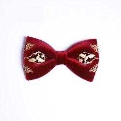 Hohe Qualität 2020 Männer Fliege Handgemachte Vogel Floral Samt Metall Elch Bowties Schmetterling Chinesischen Stil Hochzeit Bogen Krawatten für männer