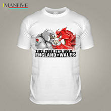 England V Wales White Rugby Championship T-Shirt Bulldog Dragon Try T Shirt Sport 2019 Summer Style Fashion Men T Shirt stooble men s new zealand rugby haka t shirt