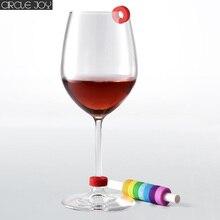Youpin 서클 실리콘 파티 와인 글라스 식별 링 식별 마커 레드 와인 음식 접촉 수준 넓은 컵 범위