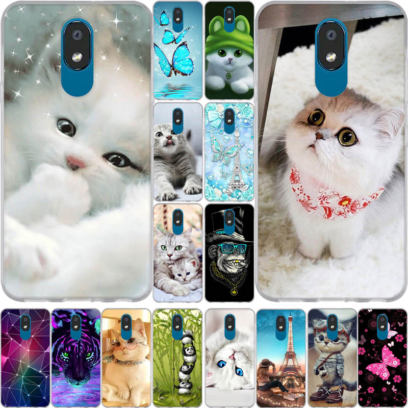 Cute Cat Case For LG K30 2019 Phone Case Silicone Cartoon Transparent TPU Soft Back Cover For LG K 30 X2