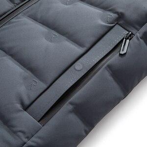 Image 4 - ผู้ชายเป็ดสีขาวลงเสื้อแจ็คเก็ตฤดูหนาว Slim Hooded Down Coat Selected Feather เสื้อผ้าสำหรับชาย 9231 ใหม่ 2019