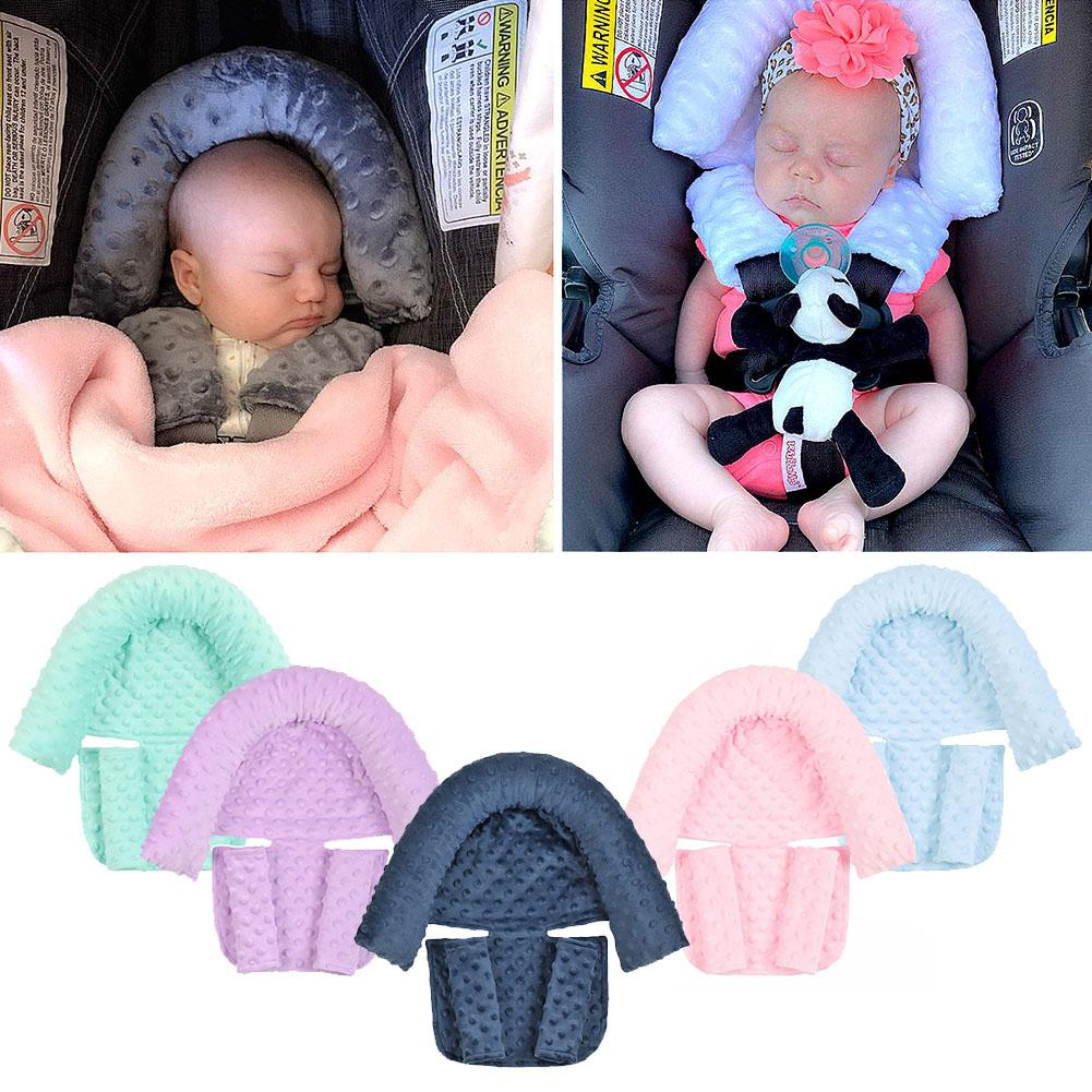 HobbyLane 2Pcs/Set Baby Safety Seat Headrest + Safety Belt Cover Set for Infants