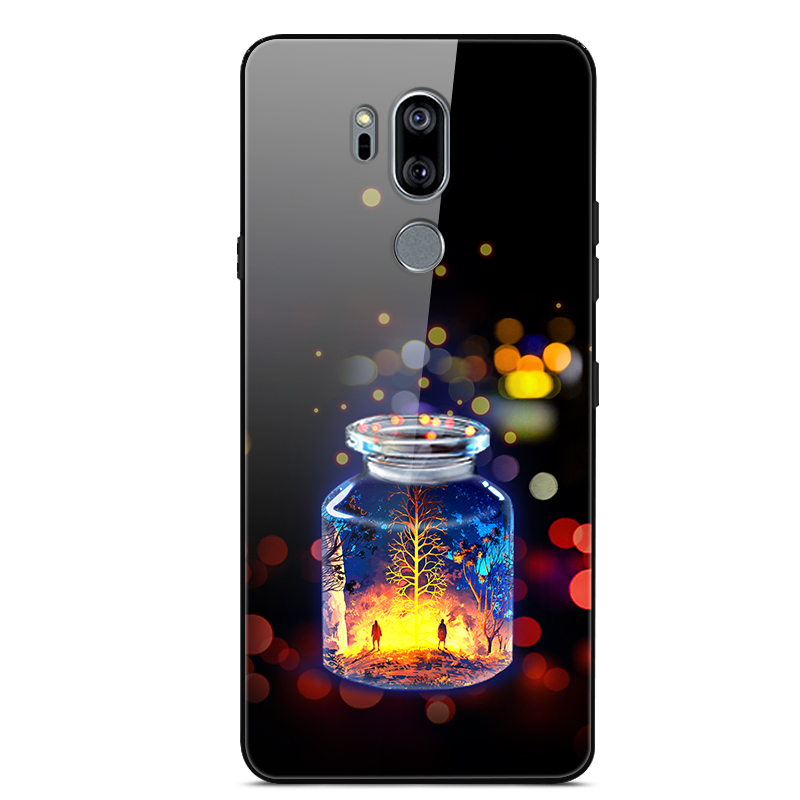 For LG G7 Thinq Case Tempered Glass Print Back Cover Hard Case For Coque LG G7 Thinq G710 Phone Case Funda LGG7 G 7 G7+ 128 GB