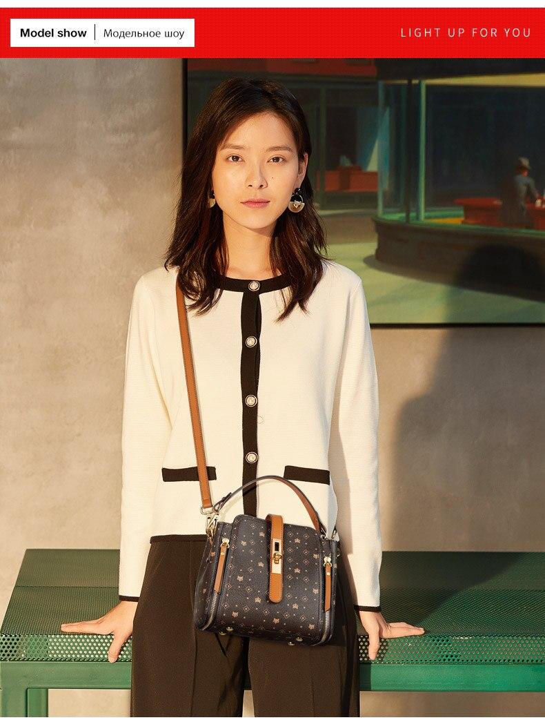 Foxer elegante bolsa feminina grande capacidade estilo