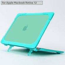 Ударопрочный внешний чехол складной Подставка для apple macbook