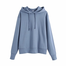 Women Hoodie Pullovers Sweatshirts Tops Long-Sleeve Casual SW1103 Loose Lady Simple New