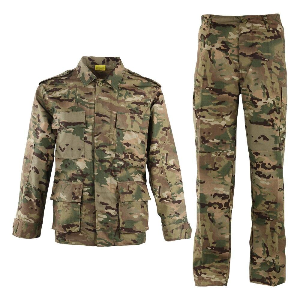 9Color Camouflage Army Mens Usmc Special Forces Military Uniform Combat Shirt Work Wear CS Tactical Plus Size Clothes Pant Set