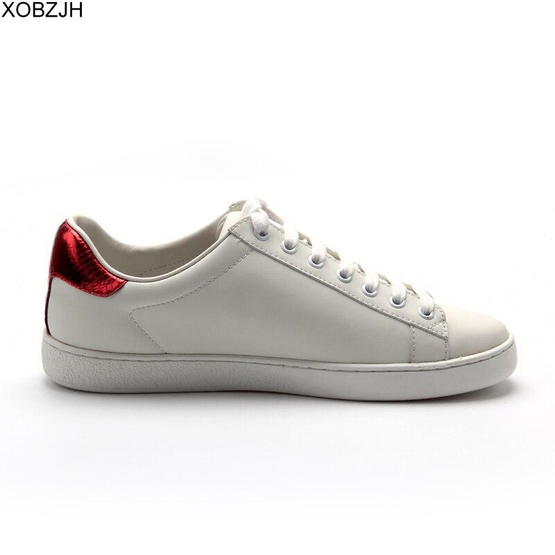Chaussures de designer décontractées homme baskets de luxe hommes et femmes de haute qualité 2019 marque en cuir véritable mode sans lacet chaussure blanche pour hommes - 3