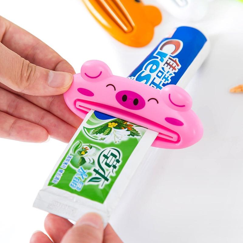 2019 2PCS Hot Bathroom Home Tube Rolling Holder Squeezer Easy Cartoon Toothpaste Dispenser   Toothpaste Dispenser
