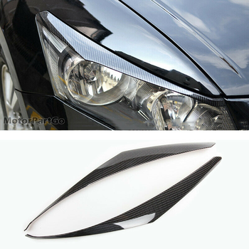 Real Crabon Fiber Head light Eyelid Eyebrow Cover Trim 1pair for  Honda Accord 2008-2012  T173 1
