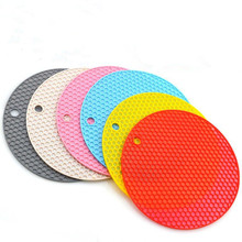 Heat Resistant   Cup Holder Table Mat   Drink Cup Coasters Non-slip Pot Holder Table Placemat Kitchen Accessories  Round 1pc round silicone cup mat non slip heat resistant mat coaster bowl coffee cup placemat holder table mat kitchen accessories