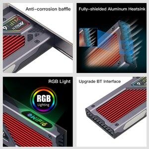 Image 5 - Adattatore Wireless Dual Band PCIe da 3000Mbps Intel AX200 Wi Fi 6 Bluetooth 5.1 scheda Wifi di rete 802/2.4 ac/ax G 5G per PC Desktop