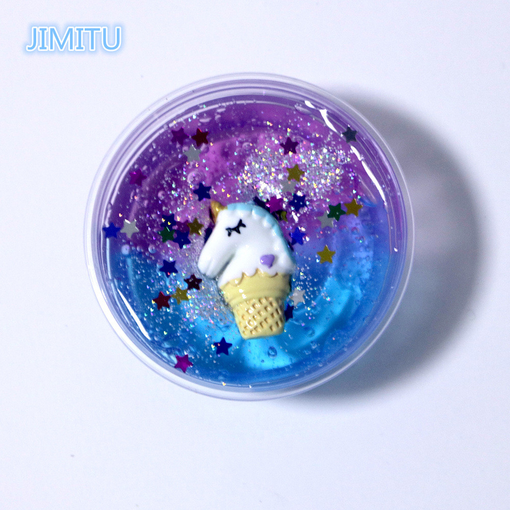JIMITU Mud-Toy Slime Unicorn Crystal Gradient 60ml Star Symphony Fantasy