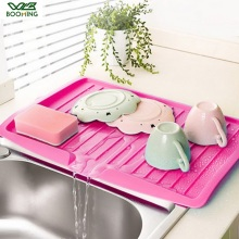 WBBOOMING Drain Rack Kitchen Plastic Dish Drainer Tray Large Sink Drying Rack Worktop Organizer Drying Rack For Dishes