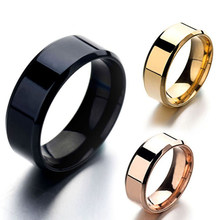 Unisex Simple Rings Lover Couple Rings Men Women Stainless Ring Pure Color Ring Polishing Finger Rings Vintage Cool Ring Jewelry(China)