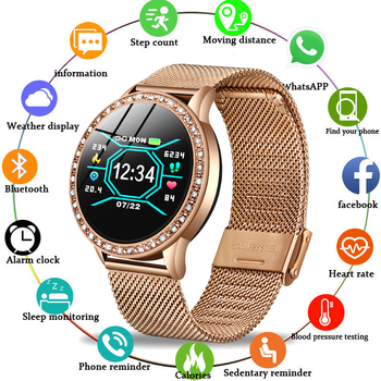 Smart Watch Women Blood Pressure Heart Rate Monitor Fitness tracker Sport Smart Band Alarm clock reminder Smart wristband Watch