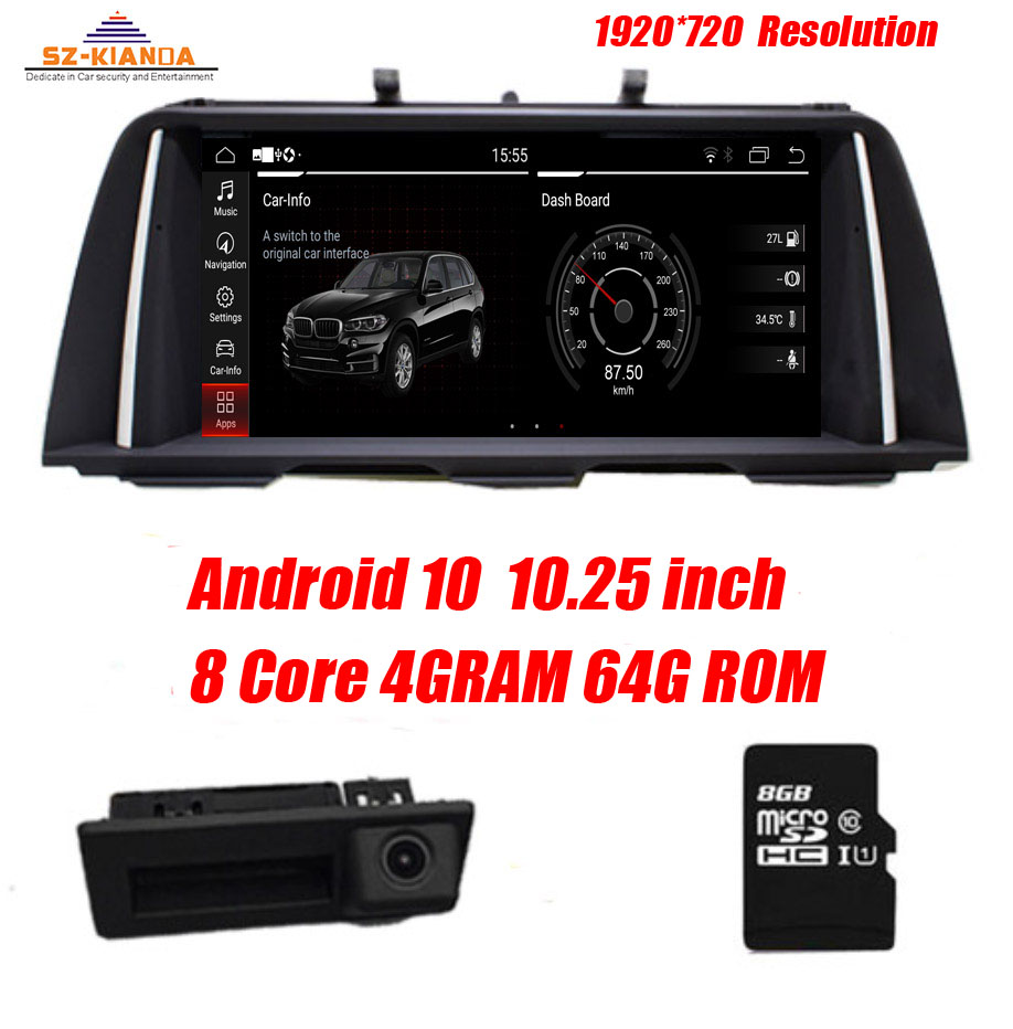 4GB RAM+64GB ROM 8 core Android 10.0 Car DVD Player For BMW 5 Series F10/F11/520 (2011-2016) CIC/NBT GPS Radio Wifi Bluetooth(China)