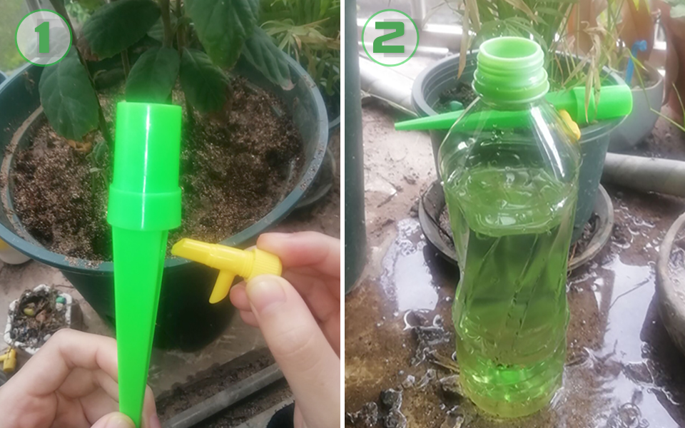 H27a25f3ff8a0436ab787e4d1596fdfb2F Drip irrigation garden watering system automatic Dripper water Artifact Travel essentials plant flower Potted plant Waterer