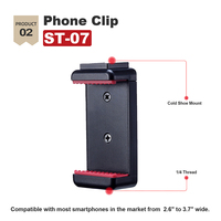 Ulanzi st-07 cold shoe phone clip