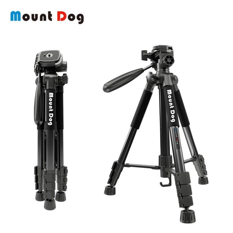 MountDog 70 polegada Dslr Câmera Profissional Câmera Tripé de Viagem Portátil de Alumínio pan cabeça Digital