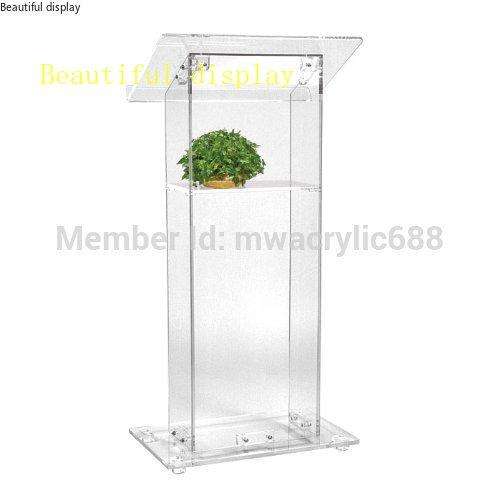 Púlpito muebles envío gratuito alta venta barato atril de acrílico transparente, acrílico podioacrílico púlpito