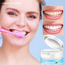 VIBRANT GLAMOUR Probiotics Teeth Whitening Powder Remove Plaque Stains Fresh Breath Balance Dental Flora Maintain Oral Care 50g