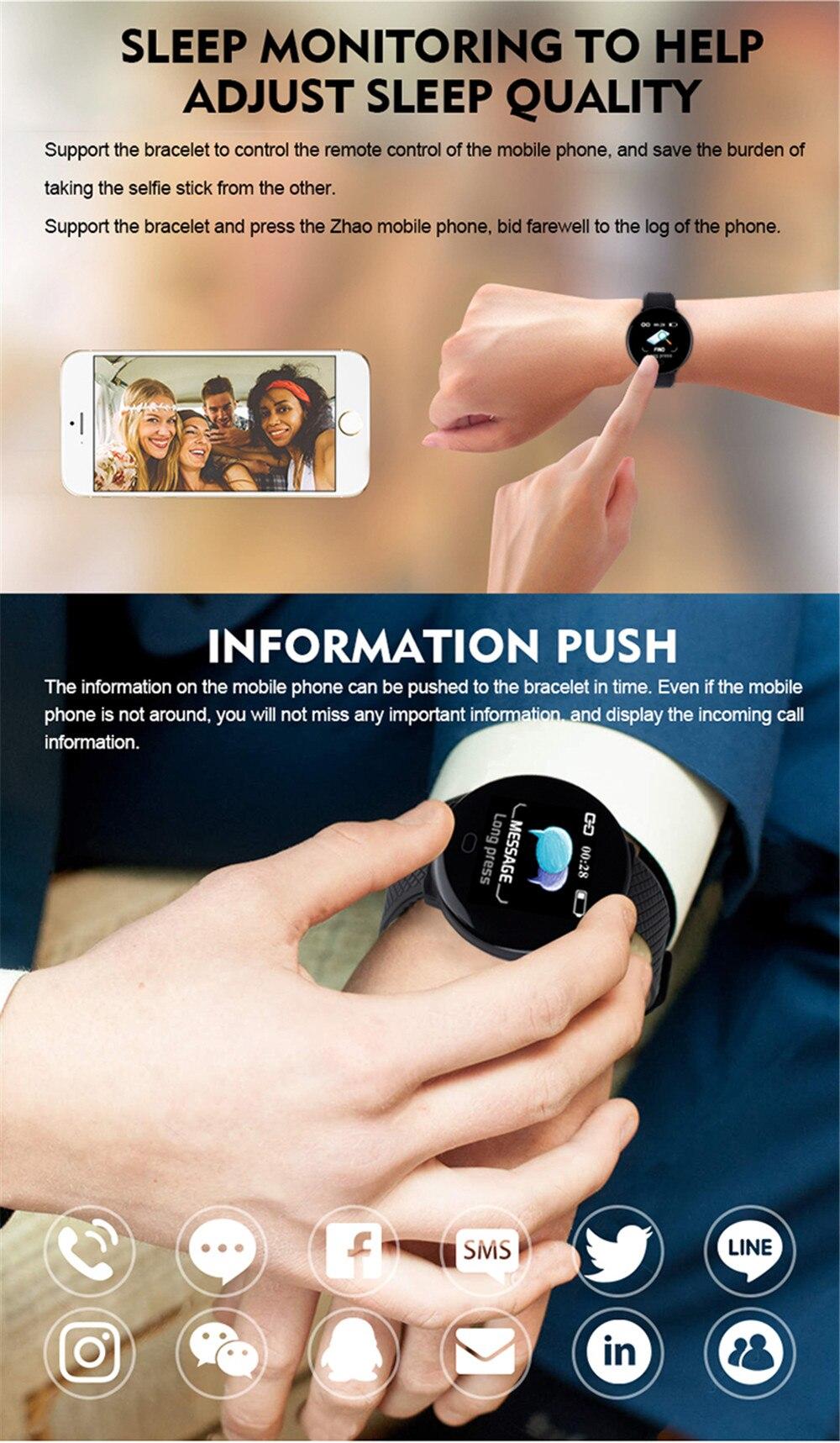 rastreador pulseira inteligente monitor de freqüência cardíaca das mulheres dos homens