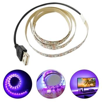 цена на USB Money Detector 5V Sterilization Disinfection UV Ultraviolet LED Purple Light Bar Home Decoration Lamp UV LED Strip Light