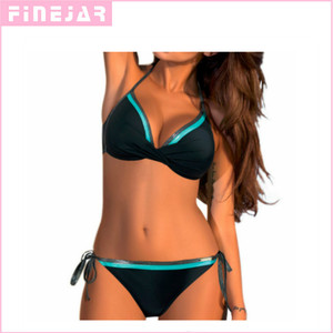 Image 1 - The new  sexy multi color split swimsuit European and American bikini swimsuit