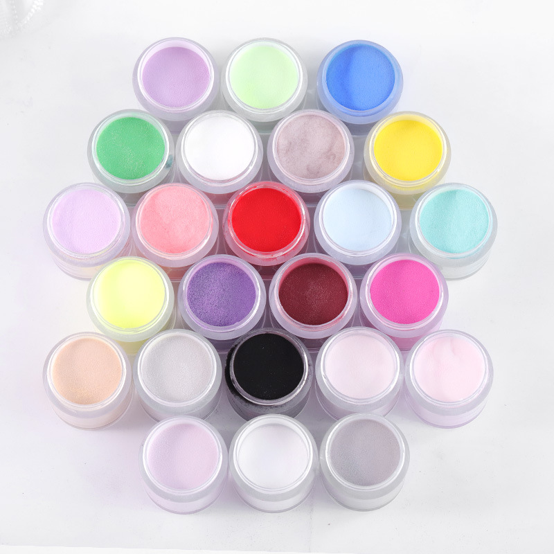 Best Nail Glitter Shiny Matte Shell Colorful Nail Art Pigment Dust Powder Manicure Nail Decorations C48