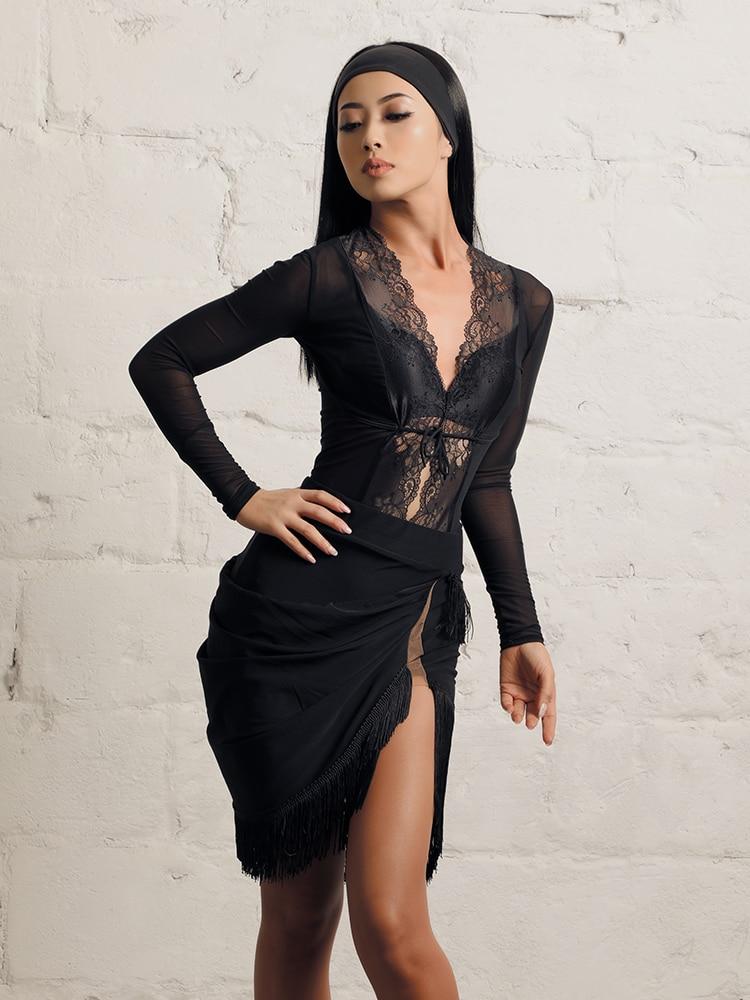 ZYMdancestyle Dance Floor 007 Skirt#19135H Women Latin Dance Practice Wear Lady Double Layer Fringe Tassel Mesh Slip Short Skirt