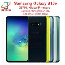 Samsung galaxy s10e g9700 duplo sim snapdragon 855 6gb ram 128gb rom octa núcleo 5.8 nnfc 4g lte original desbloqueado telefone celular